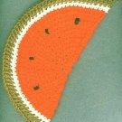 2 handmade crocheted watermelon hot pads new