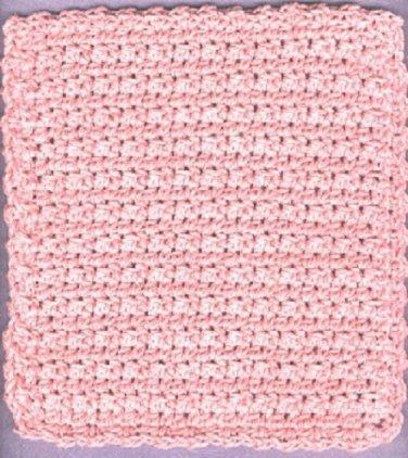 NEW handmade crocheted hot pad and dishcloth PINK