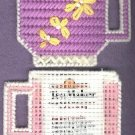 Tea Cups 2 needlepoint on plastic canvas new