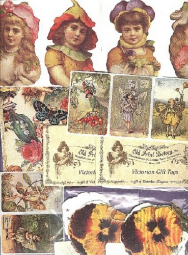 Gift tags and various stickers Victorian repo's