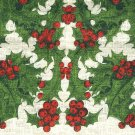 Christmas Holly linen towel vintage new