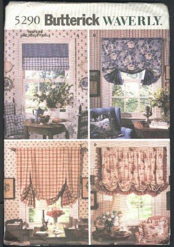 Butterick Waverly window shades pattern No. 5290