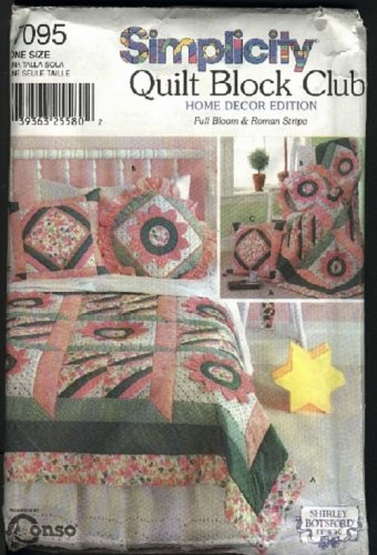 Simplicity pattern Quilt Block Club pattern No. 7095