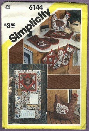Simplicity pattern, set of kitchen accessories, pattern No. 6144