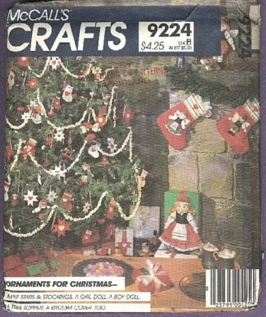 McCall's pattern make craft items for Christmas pattern No.9224