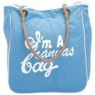 Gigi Chantal™ Blue and White Canvas Shopping Bag