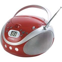 Coby Red Portable CD Player With AM/FM Tuner