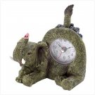 Playful Elephant Desk Clock