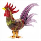Art Glass Rooster Figurine