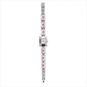 Null Pink Butterfly Lady`s Watch