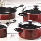 Null Burgundy Nonstick Cookware