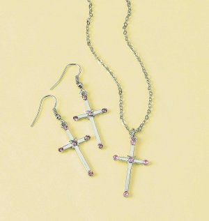 Null Cross Necklace & Earring Set