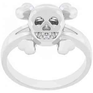 Null Skull And Cross Bone Ring