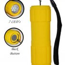 Waterproof Shock resistant 7 LED Flashlight FL3031WSY