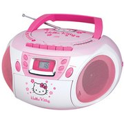 SPECTRA Hello Kitty KT2028A Stereo CD Boombox with Cassette Player/Recorder and AM/FM Radio