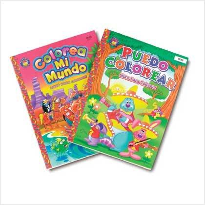 Spanish Coloring Book Set