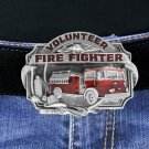 Belt Buckle Lead & Nickel Free Pewter Volunteer Firefighter