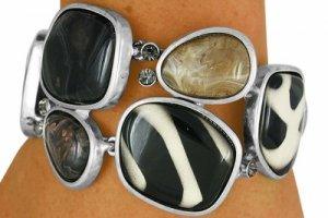 Animal Print Crystal Stones Bracelet