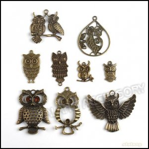 Owl Jewelry 54pcs Pendant Fit Jewelry DIY