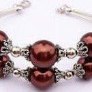 pearl beads Bracelets bangle coffee shell Fashion Free shipping