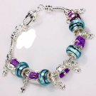 European style Fashion Bracelet w/ murano glass beads FREE SHIPPING