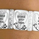 STRETCH BRACELET silver tone religious jewelry Proverbs 4:23