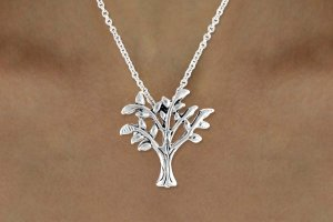 Tree Of Life Charm Necklace Silver plated FREE shipping