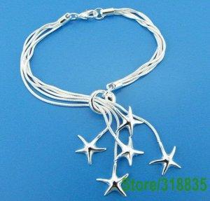 .925 sterling silver bracelets sand dollar charm FREE SHIPPING