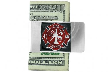 FIRE FIGHTERS money clip MENS gift LEAD & nickel FREE