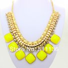 Chunky CANDY color resin Fashion Necklace fashion jewelry