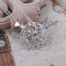 925 Silver Necklaces Pendants Fashion Jewelry Crystal Circle Flower necklace
