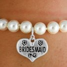WEDDING jewelry BRIDESMAID Stretch faux pearl BRACELET