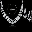 Wedding Day jewelry sets necklaces earrings crystal
