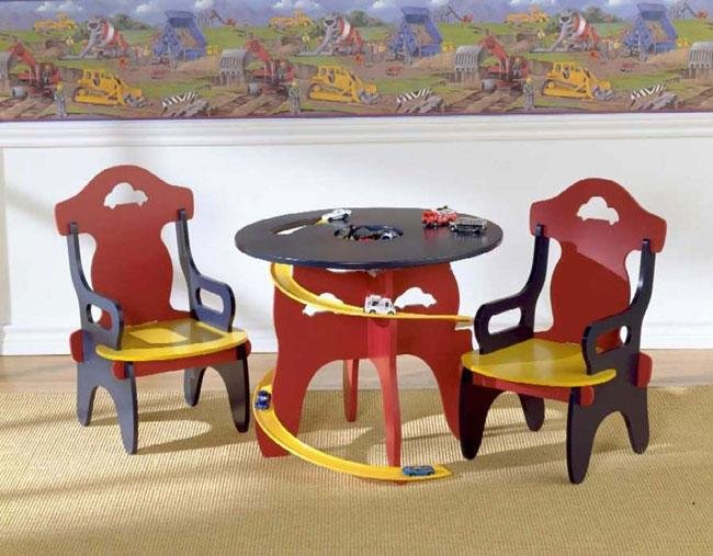 Childrens Race Track Table & Chair Set