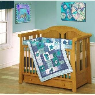 Under the Sea 4-piece Patchwork Crib Set