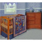 Lil Choo Choo 4-piece Patchwork Crib Set