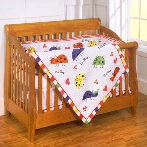 Luv Bug 4-piece Patchwork Crib Set