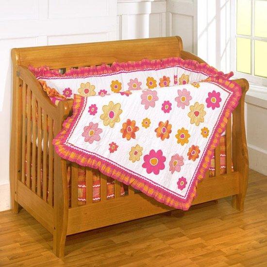 Malibu Baby 4-piece Patchwork Crib Set