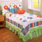 Blooming Meadow All-Cotton 4-pc Quilt Set