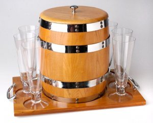 Towle Keg 8-piece Party Set
