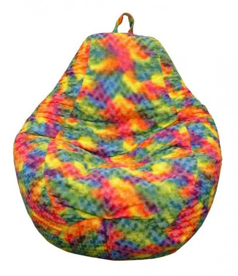 Furry Tie-dyed Kids Beanbag Chair