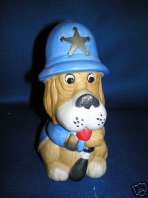 COMIC SHERIFF DOG MONEY BANK AS SHOWN