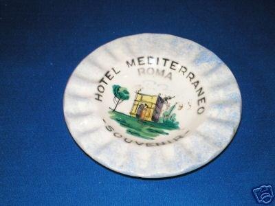 HOTEL MEDITERRANEO ROMA SOUVENIR ASHTRAY
