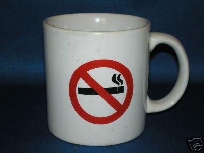 NO SMOKING COFFEE MUG AS SHOWN