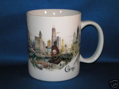 CHICAGO NOW COFFEE MUG AS SHOWN LOCATIONS ON BACK