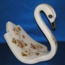 VINTAGE FLORAL SWAN HAND TOWEL HOLDER BATHROOM LARGE