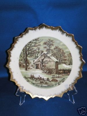 COLLECTOR PLATE CURRIER & IVES HOMESTEAD IN WINTER