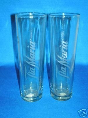 GLASSWARE AS SHOWN~SET OF 2 TIA MARIA BAR GLASSES