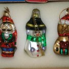 TRADITIONAL GLASS CHRISTMAS ORNAMENTS FROM AVON SET 3