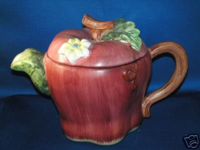 DECORATIVE TEA POT APPLE FRUIT